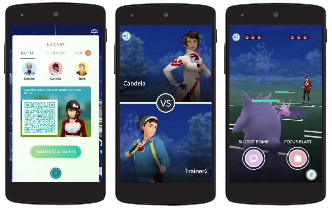 Walki PvP pomiędzy graczami w Pokemon GO (screen)