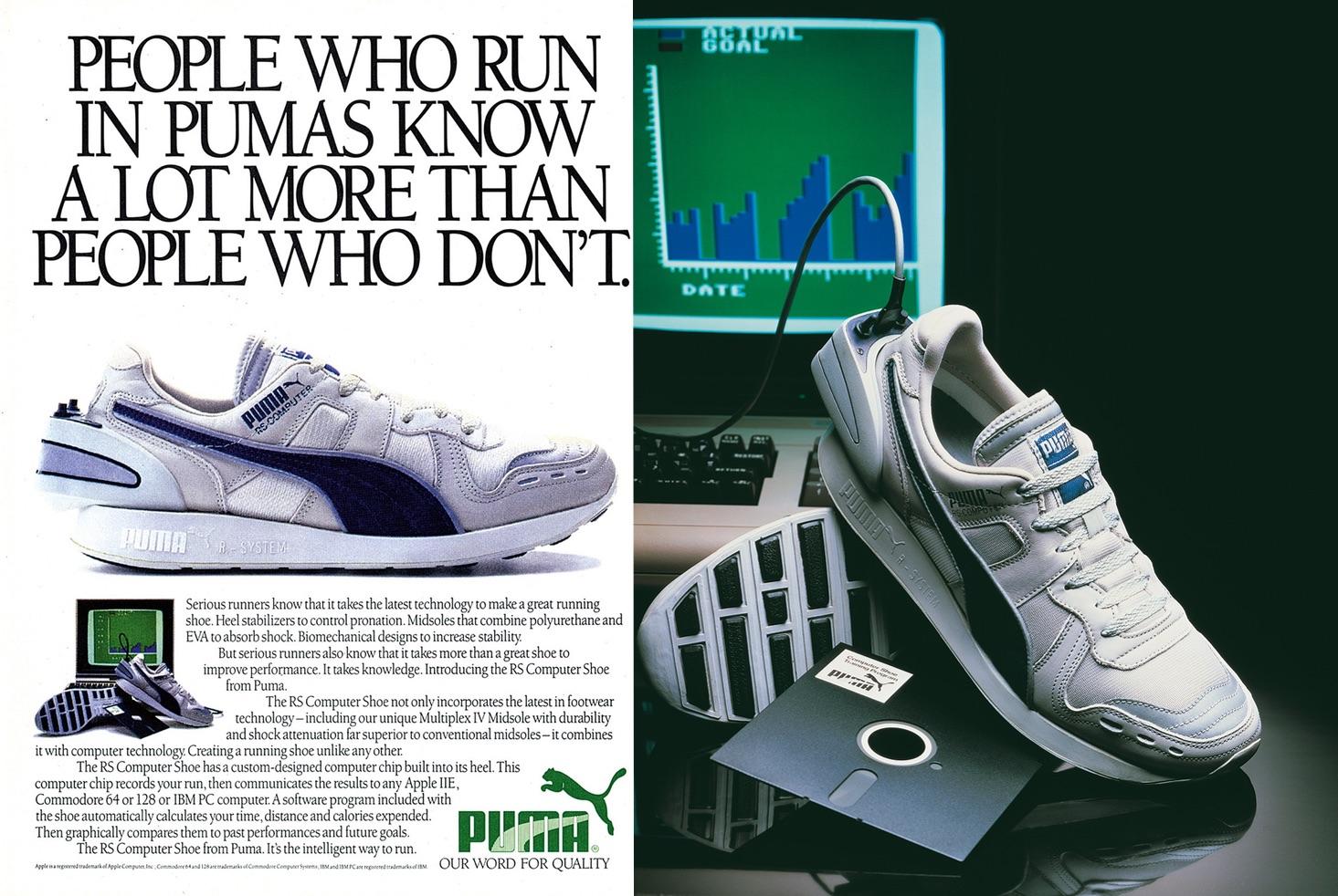 PUMA RS-Computer - oryginalna reklama butów z 1986 roku