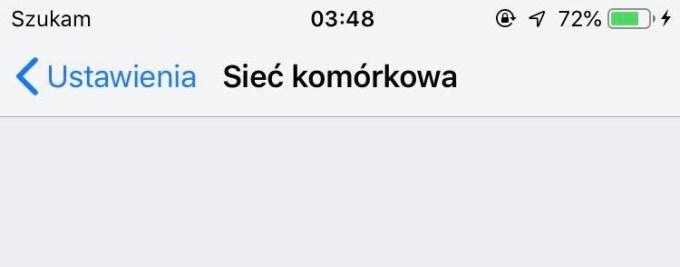 Szukam sieci... - komunikat na iPhonie