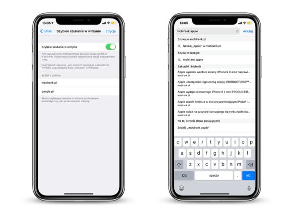 Jak szybko wyszukiwać z paska adresu w Safari na iOS-a?
