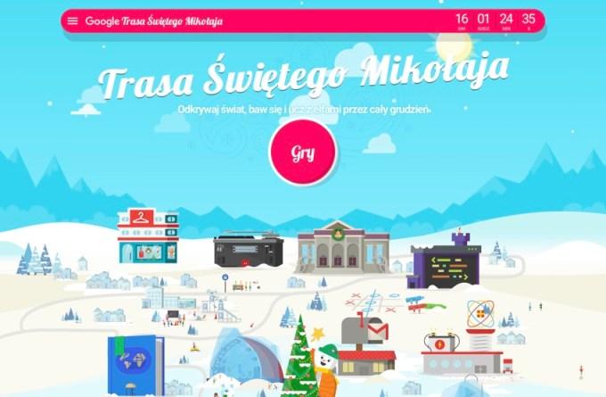 Trasa Świętego Mikołaja 2018 (Google Santa Tracker) PL