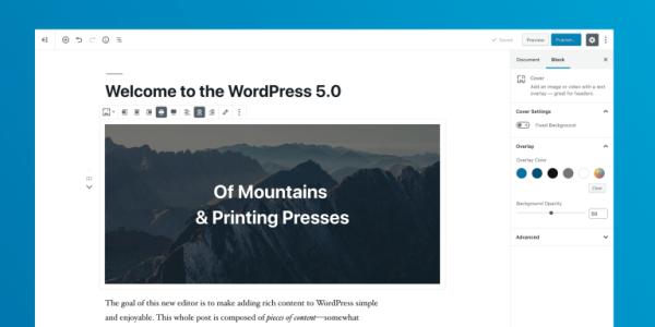 WordPress 5.0 zostanie udostępniony 6 grudnia 2018 r.