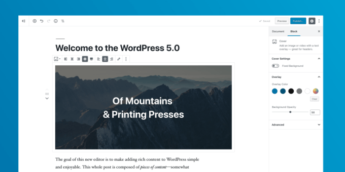 Wordpress 5.0 (edytor Gutenberg)