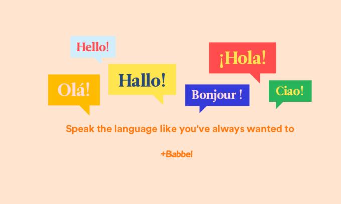 Aplikacja mobilna Babbel z polskim interfejsem