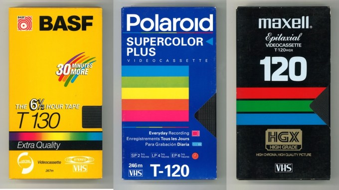 Przykładowe projekty okładek kaset VHS