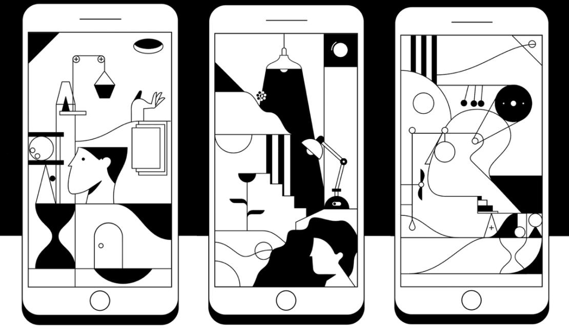 """Gra mobilna """"Kontrast"""" - zrzuty ekranu"""