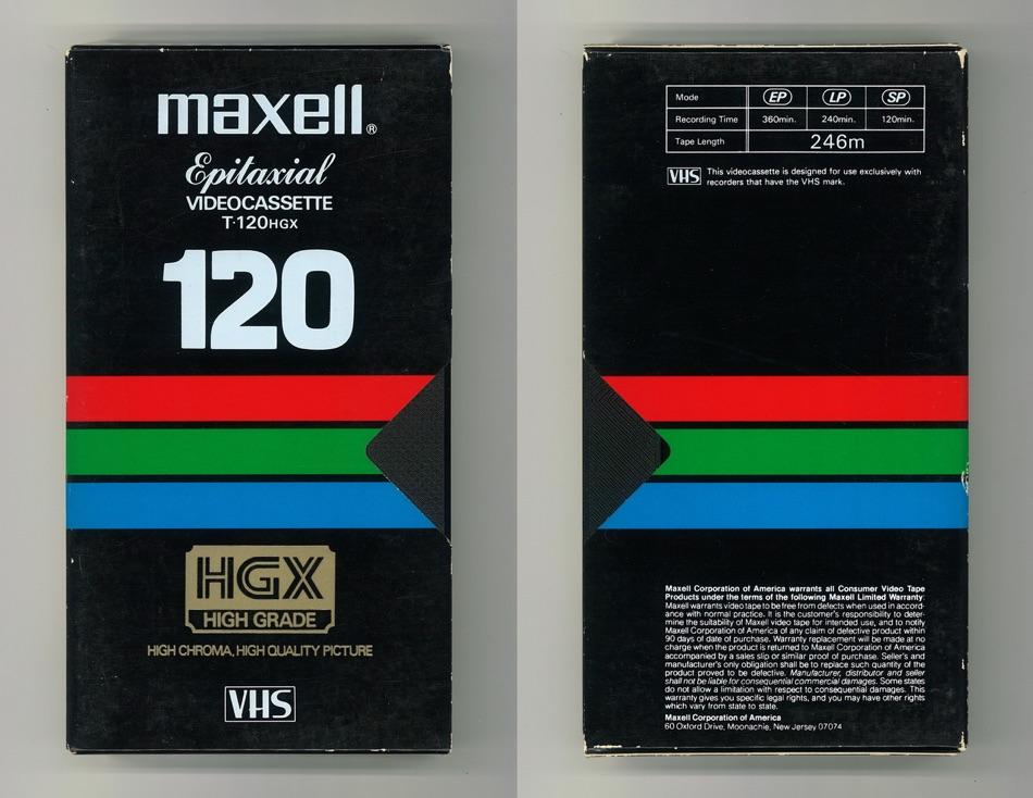 Maxell Videocassette 120