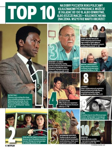 TOP 10 filmów i seriali wg Netflimu (styczeń 2019)