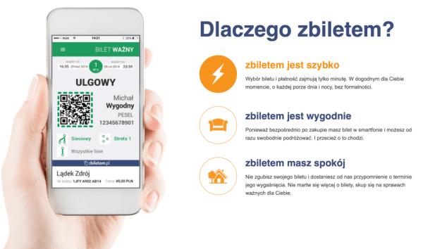 """Bilety miejskie w Warszawie kupisz teraz w aplikacji """"zbiletem"""""""
