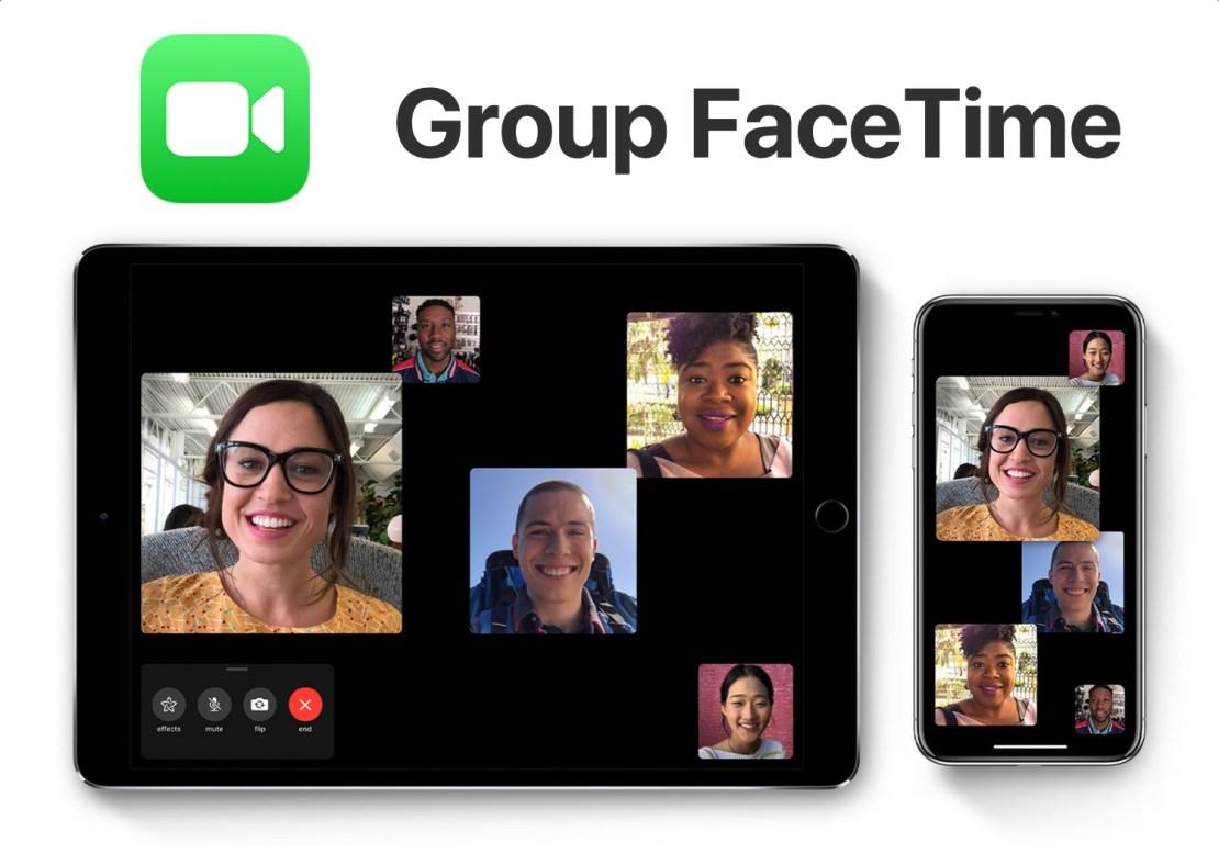 Rozmowy grupowe FaceTime
