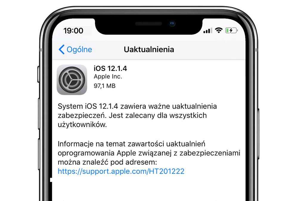 iOS 12.1.4 (aktualizacja)