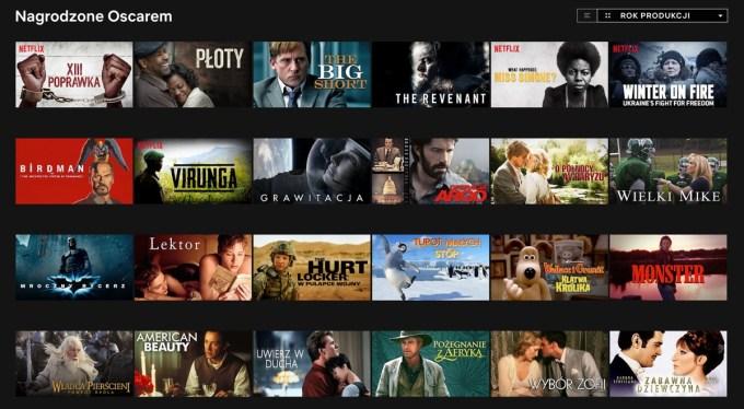 Wybrane tytuły oscarowe w serwisie Netflix