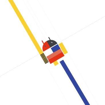Logo Android (styl Bauhaus) fot. 99design