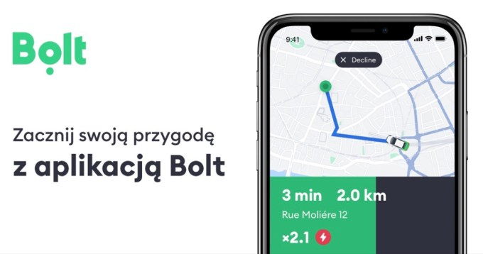 Aplikacja mobilna Bolt