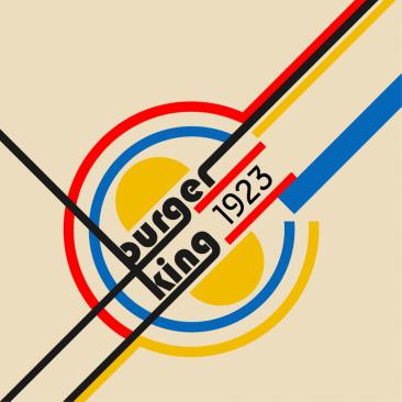 Logo Burger King (styl Bauhaus) fot. 99design
