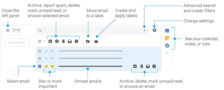 Porządkowanie skrzynki Gmaila.