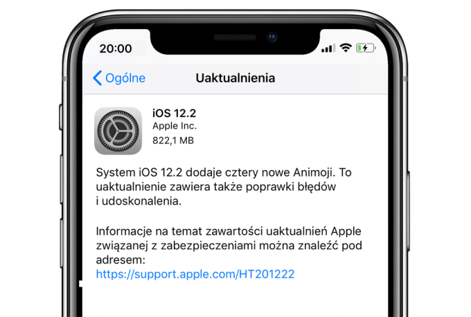 iOS 12.2 update (iPhone)