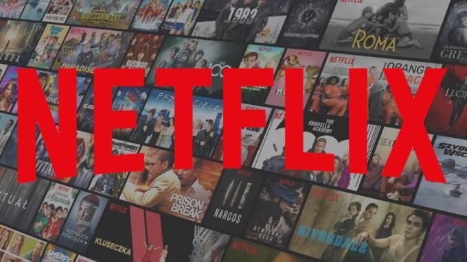 logo Netflix z polskimi ikonami filmów i seriali