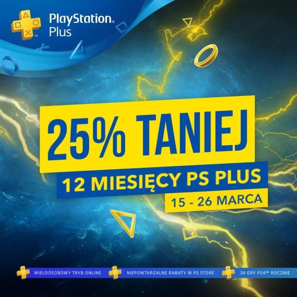 Roczna subskrypcja Playstation Plus za 180 zł do 26 marca!