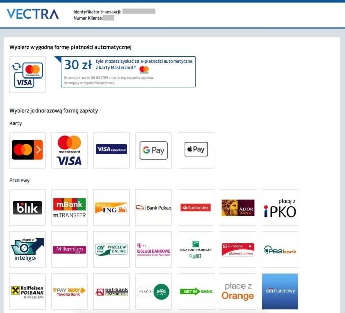 Zrzut ekranu z płatności za FV przez BM Apple Pay
