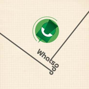 Logo WhatsApp (styl Bauhaus) fot. 99design