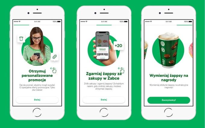 Zrzuty ekranu aplikacji mobilnej Żappka