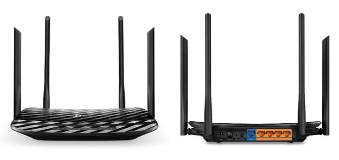 Wygląd routera Archer C6 z przodu i z tyłu