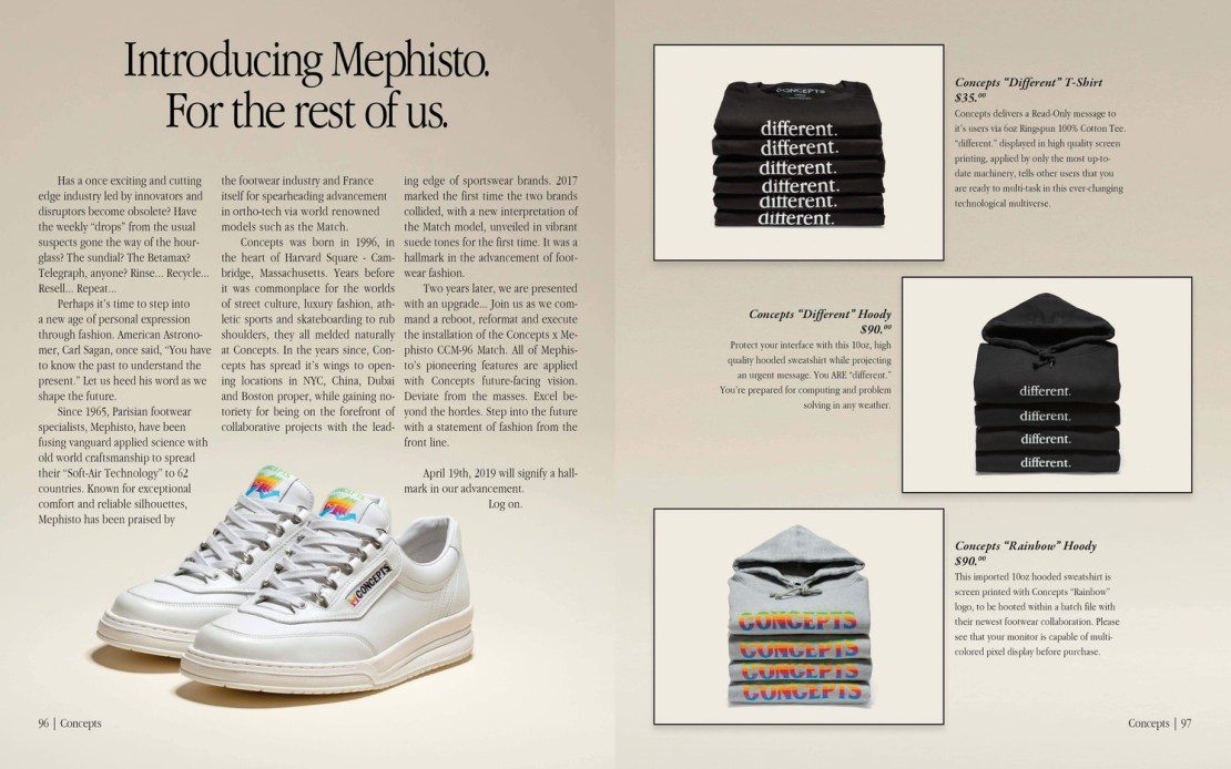 Reklama butów CCM-96 w stylu Apple'a