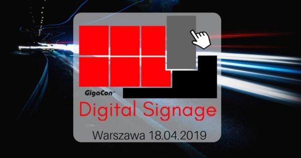 Weź udział w konferencji Digital Signage – 18 kwietnia w Warszawie