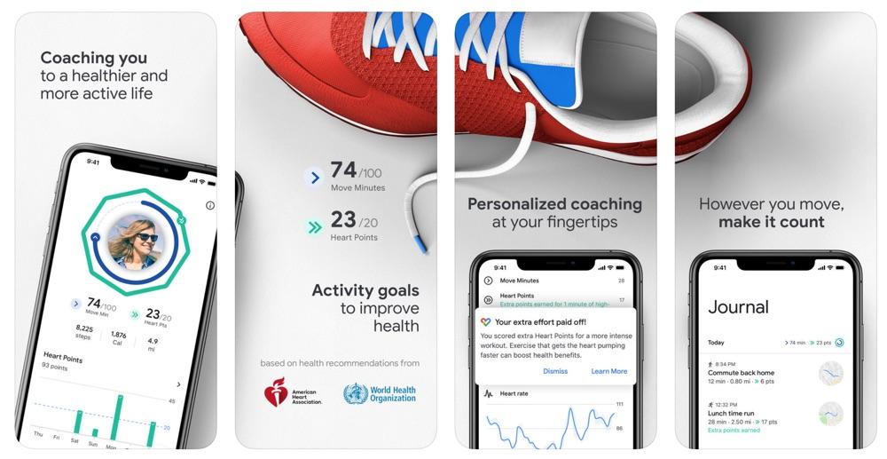 Google Fit na iPhone'a (screen)