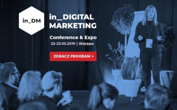 Konferencja in_Digital Marketing już 22-23 maja 2019 r. w Warszawie!