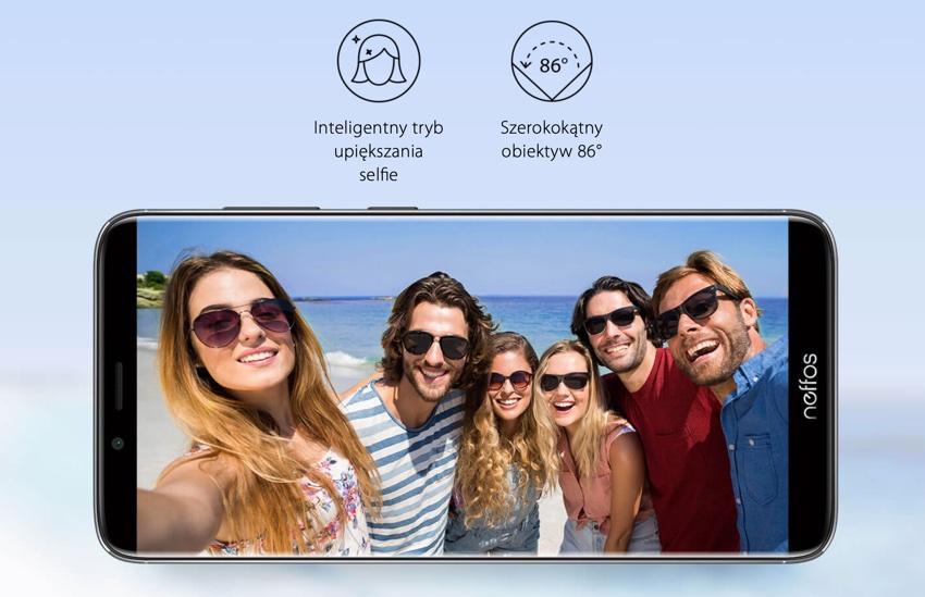 Przedni aparat do selfie w Neffos X9 od TP-Link
