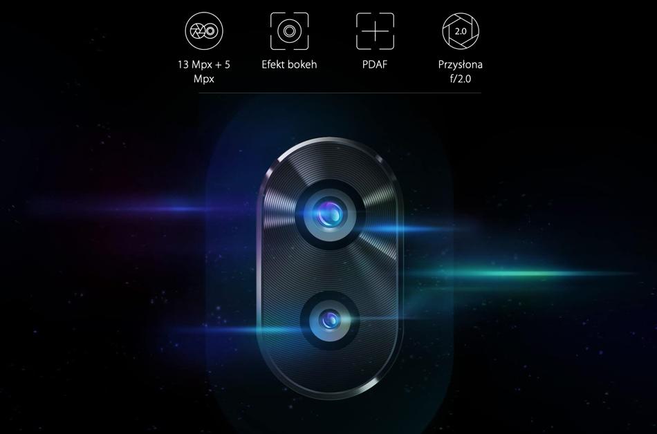 Podwójny aparat 13 Mpx + 5 Mpx w Neffos X9
