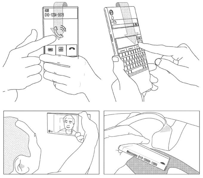 Dwustronny wyświetlacz Samsunga (projekt, patent)