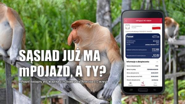 Usługa mPozjad, czyli dane z dowodu rejestracyjnego, karty pojazdu w smartfonie