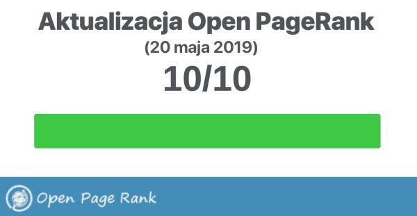 Open PageRank stron internetowych z nową aktualizacją (maj 2019)