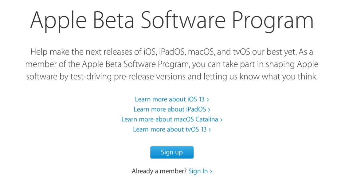 Publiczne profile beta dla systemów iOS 13, iPadOS 13, macOS Catalina oraz tvOS 13