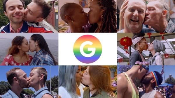 Pary homoseksualne się całują a Google Pixel robi fotki