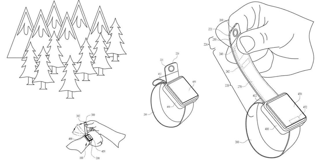 Patent kamery w pasku Apple Watcha