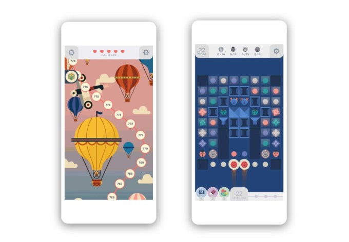 """Zrzut ekranu z gry mobilnej """"Two Dots"""""""