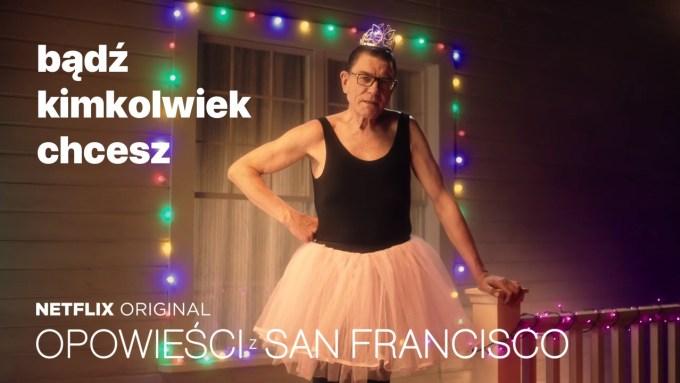 """Mirosław Zbrojewicz promujący serial """"Opowieści z San Francisco"""""""