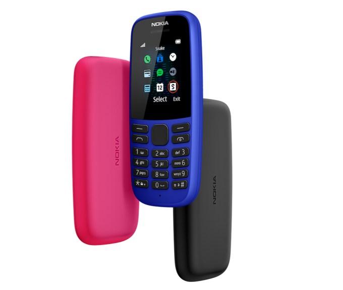 HMD Nokia 105 - kolorowe wersje