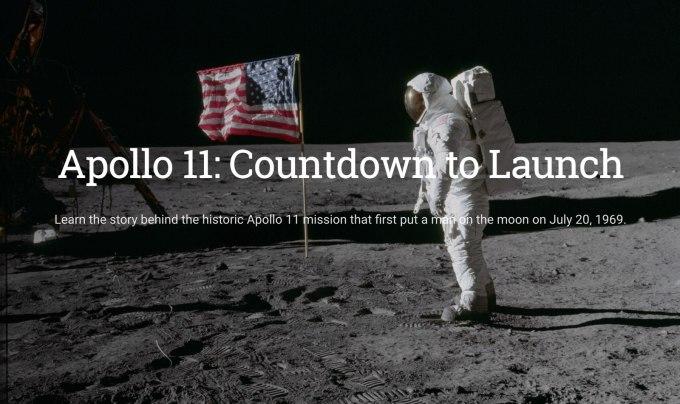 Apollo 11 w Google Earth (50-lecie eksploracji kosmosu)