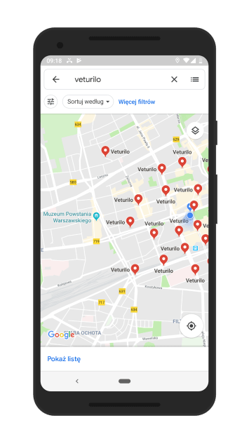 Google Maps (screen bikesharing)