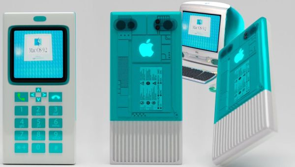 """Jak wyglądałby iPhone, gdyby miał styl iMaca G3 """"Bondi Blue""""?"""