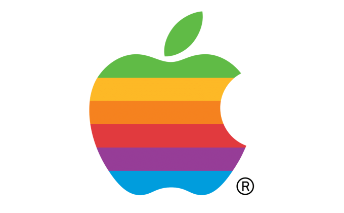 Tęczowe logo Apple (rainbow)