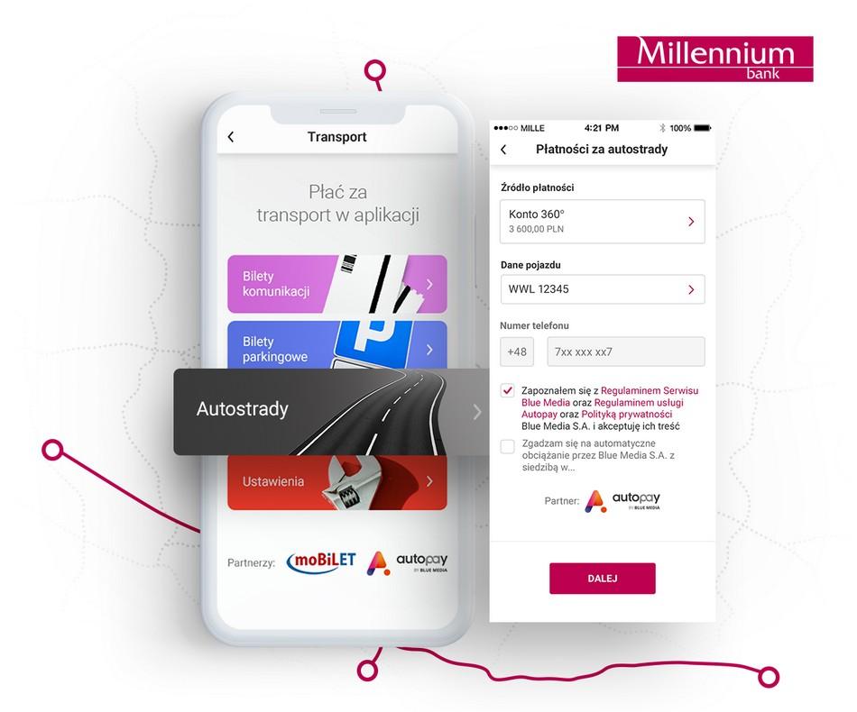 AutoPay w aplikacji moblnej Millennium