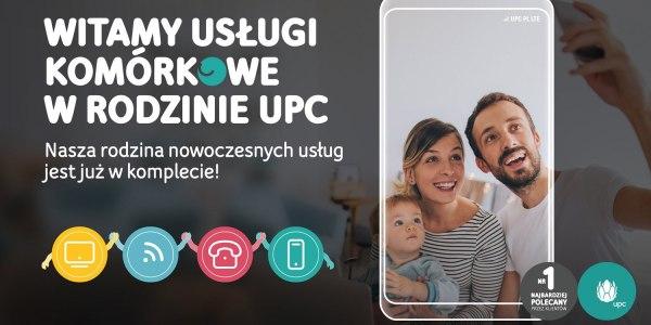 UPC Polska ma już komplet usług: internet światłowodowy + usługi mobilne + TV