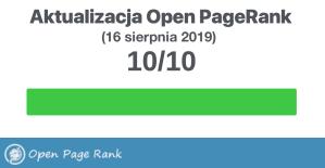 Open PageRank (stan na sierpień 2019 r.)