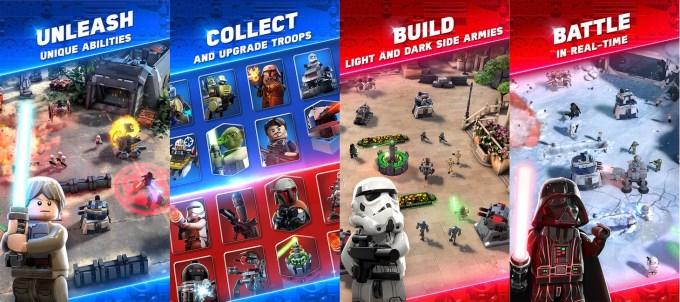 Zrzuty ekranu z gry LEGO Star Wars Battles